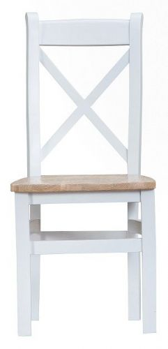 Tunbridge Cross Back Wooden Seat Dining Chair